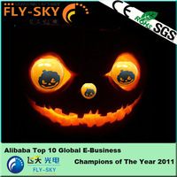 2014 Hot selling Pumpkin logo free shipping led grow up balloon for party supply and Halloween day