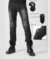 Juke net fabric denim motorcycle automobile race pants jeans