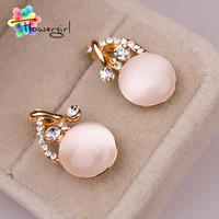 Hot Sell Fashion Gold Studs Earrings With Eound Oval [3263-E09]