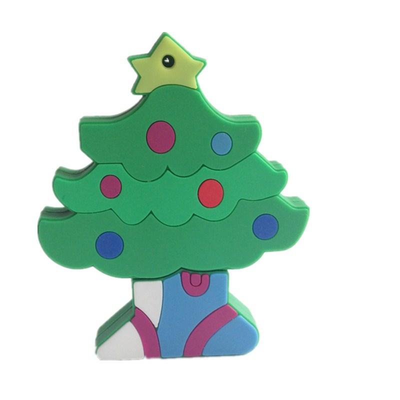 disk pendrive cartoon Christmas tree pendriver 8gb 16gb 32gb 64gb Santa Claus pen drive usb flash drive gift external storage(China (Mainland))