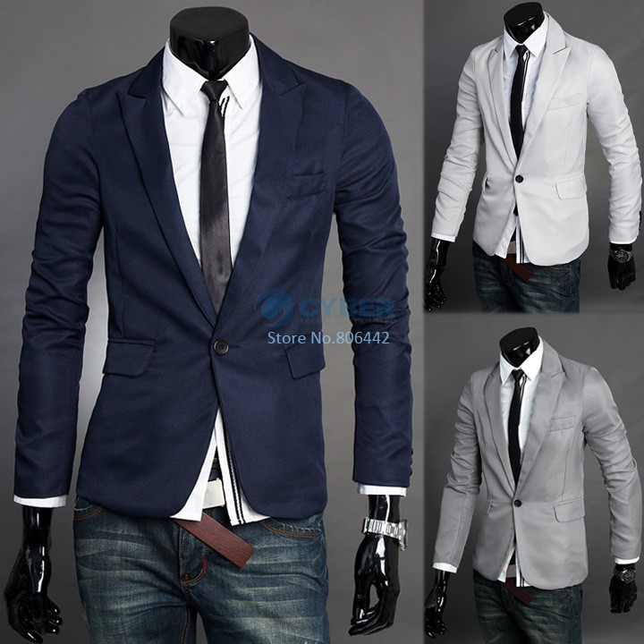 3pcs/Lot WHolesale New Men's Fashion Blazer Coat Male Suit Formal Suit Men's Business Clothing Jacket Outerwear 4 Color 16968(China (Mainland))