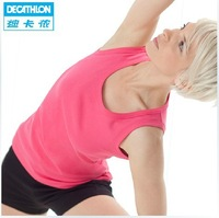 Decathlon Sports Vest Yoga in the Women's Eco-cotton Sleeveless Shirt Bottoming Casual Summer Ride DOMYOS On Sale 325