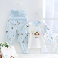 Baby Underwear Children's sleepwear spring and spring retaining belly warm cotton suit newborn baby clothes Qiuyi
