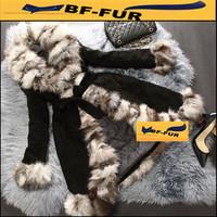 2014 New Genuine Fox Fur Women Real Leather Coat Natural Warm Fur Female Jacket Long Big Collar Womens Plus size Fur Coats