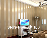 New Black and white Vertical stripe wallpaper  living room  study soundproofing Silver home decor wall paper roll