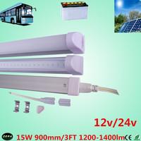 free shiping  15w 12v T5 led  tube 15w  solar tube 1200-1400lm 3ft led bulb 24v t5 fluorescent  tube  12v bus light 100pcs/lot