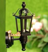 Wholesale iland 1:12 Dollhouse Miniature Black Copper Wall Light LED Lamp 50PCS