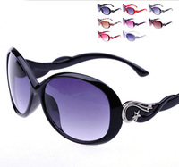 Six color 2014 wholesale fashion travel Sunglass for women Free shpping 3504