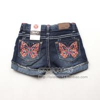 Children's clothing female child spring and summer water wash denim shorts z2110