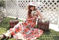 Hot selling women's clothing  backless Bohemian chiffon floor-length beach dress  fashion women skrit hot sale free shipping