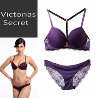 A c bra sexy front button bra lace underwear purple push up bra set
