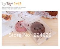 100pcs/lot 8.5X11cm Cookie frosted cute bear heat seal plastic bags for biscuits snack baking package