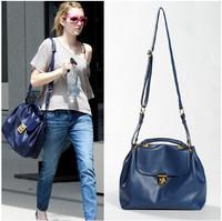 Hot-selling girl blue bag fashion star Dark Blue bag women's crossbody handbag