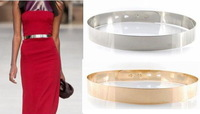 Silver Golden alloy Waist Belt Sashes Women Gold Fashion Accessories Cummerbunds metal women's belt female casual wide belt