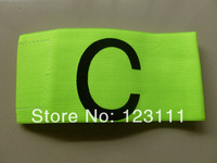 Soccer Football Games Gear Adjustable Captain Armband Player Arm Band Fluroescent Green 5pcs/pack