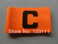 Soccer Football Games Gear Adjustable Captain Armband Elastic Player Arm Band Fluroescent Orange 10pcs/pack