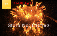 220V or 110V 10M 100Bead High Lighted US Plug Colorful Flash String Lights LED Star Christmas Light Garden Wedding Free Shipping