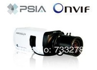 Free shipping DS-2CD833F-E,Hikvision VGA Low-light Network Box Camera,IP Camera,Two-way Audio,PoE,True Day/Night,CCTV Camera