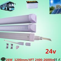 free shiping  26w 12v T5 led  tube 26w  solar tube 2400-2600lm 4ft led bulb 24v t5  SMD2835 fluorescent  tube 100pcs/lot