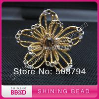 Gold rhinestone napkin ring for wedding