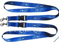 "Custom 5/8""logo Submliamtion polyester lanyard promotional colorful breakaway lanyard with snap hook"