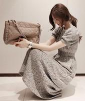 B spring 2014 elegant elastic waist princess sleeve full dress one-piece dress