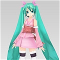Free shipping Miku Cosplay Costume  (Sakura Deluxe) from Vocaloid