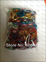 Free shipping 12 bags/lot  Metallic Loom Rubber Bands Latex  Metal Refill Rubber Bands (600 pcs bands+25 pcs S-clips)