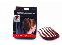 Popular Retail 12pcs/lot ABS Hair Fork Insert Comb Black/Brown Styling Clips