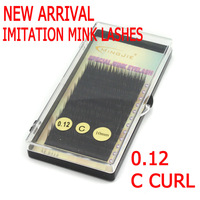2014 New Mingjie false Mink lashes M-8215 C curl 0.12mm Size 6-12mm available 12 rows Lashes Eyelash Extension