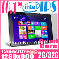 2014 Newest intel windows 8.1 compatible quad core 10 inch IPS computer & tablets with 2G RAM 32GB HDD HDMI OTG  Webcam 8000mAh