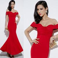 Free shipping new 2014 fomal long evening dress mermaid dress hot&sexy dress party evening elegant gowns vestidos de fiesta