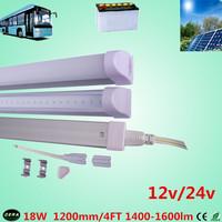 free shiping  4pcs 20w 12v T5 led  tube 20w  solar tube 1600-1900lm 4ft led bulb 24v  t5  fluorescent  tube bus light