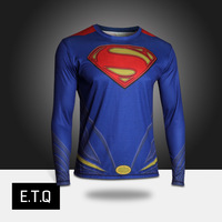 2014 NEW super man t-shirt autumn clothes male long-sleeve T-shirt long-sleeve male men's clothing autumn