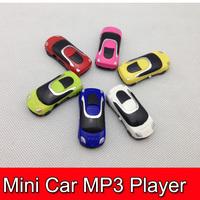 200pcs  Protable MP3 Mini Car Rechargeable Digital player W/TF card Slot Free Shipping DHL
