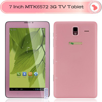 7 inch 3G TV Phone Call tablet pc Dual Core MTK6572 Inbuilt Wifi BT Built-in GPS WCDMA Phone Dual Cameras