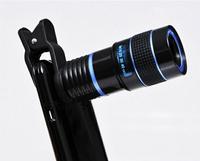Universal 8X Zoom Wide Angle Macro Mobile Lens Telescope Olho de Peixe Para For Celular iPhone Samsung galaxy note 3 4 S5 Lentes
