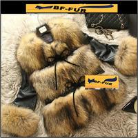 New 2014 Autumn Winter Genuine Fur Raccoon Fur Women Coat Natural Fur Female Jacket Fashion Design Womens Jacket Coats
