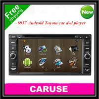 car audio for TOYOTA  RAV4 Corolla Hilux Land Cruiser Fortuner Prado 6.95 inch Android dvd car gps free wifi and 4GBmap card