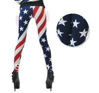 New Women/Lady American USA Flag Print Leggings Pants female skinny skin elastic stretch hip hop street personalized trousers