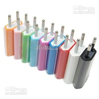 Wholesale - colorful EU Wall USB Charger Travel Portable AC Adapter for 4G free shipping