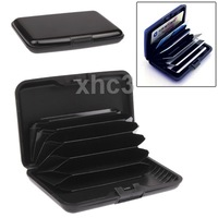 Security Waterproof Plastic Credit Card Wallet Card Pack Holder Case Box Protector with 6 Slots