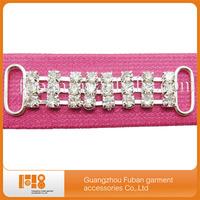 silver metal diamond crystal bikini connector