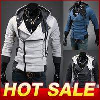 Plus size Sports Hooded Jacket Casual Winter Jackets hoody sportswear Assassins Creed Men's Clothing Hoodies Sweatshirts X100