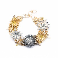 new arrival product  fashion women jewelry accessories flower crystal bracelet accessories 2014