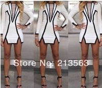 2014 New Free Shipping Hot Sale Sexy Celebrity Women Boutique Jumpsuit Ladies BodyCon Bandage Party Cocktail Dress dd57