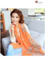 2014 New Stylish Girl Long Soft Silk Chiffon Scarf Wrap Polka Dot Shawl Scarve fashin silk scarves For Women  free shipping