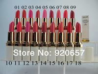 Waterproof Lipstick lip gloss 18 colors makeup lipgloss velvet matte lipstick red color 3.8g 10Piece Free Shipping