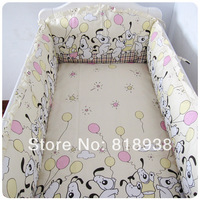 7 Pieces With Filler Baby crib bedding set cot bedding sets 7 PCS baby bed set bedding bumpers +fitted sheet+pillow new patterns