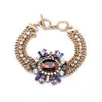new arrival products 2pcs/lot fashion women jewelry accessories flower vintage crystal shourouk bracelets 2014